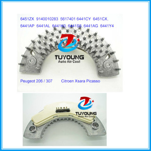 5 pins Heater Fan Blower Resistor for Peugeot Citroen Peugeot 206 / 307 Citroen Xsara Picasso 6451ZX 9140010283