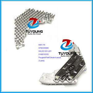 3 pins Blower Fan motor Resistor for Peugeot Fiat Citroen Lancia 6441.F6 9790339580 5HL351321-221 9140010335