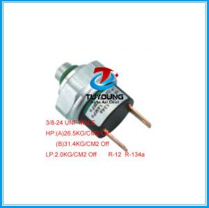 Auto air a/c pressure switch 3/8-24unf ,R-12 R-134a Universal car