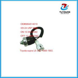 auto a/c pressure swith sensor Toyota supra OE#8864514010 3/8-24 UNF Male ON:15.5KG/CM2 OFF:12.5KG/CM2