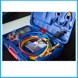 Digital Refrigeration Vacuum Manifold Pressure Gauge Tester Meter Manometer Compressor, Made in China