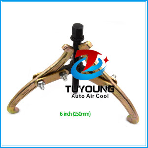 6 inch Golden & Black Adjustable 3 Jaw auto ac Compressor clutch pulley remove tool, Hydraulic Bearing Gear Puller