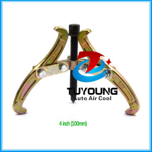 4 inch Golden & Black Adjustable 3 Jaw Gear Puller Metal Gear Puller Hydraulic Bearing Gear Puller, Compressor clutch pulley remove tool