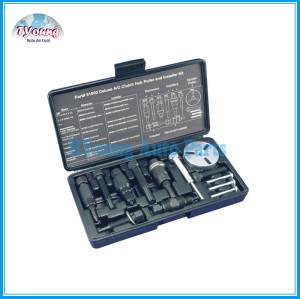 DELUXE CLUTCH HUB PULLER/INSTALLER KIT, A/C compressor clutch hub pullers and installers for GM, Ford, Chrysler etc