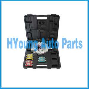 71550 A/C Manual Hose Crimper Kit with a complete set of dies,71550 handheld hose crimping tool, Auto a/c system repair tool
