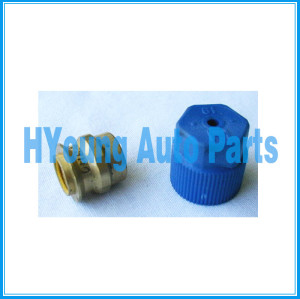 Brass Conversion Fitting fit High Side, Converts high side R12/ R134a quick release fitting, Fits most vehicles