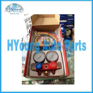 R134a hose quick coupler digital pressure gauge / diagnostic manifold gauge tester