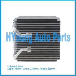 Automotive air conditioning evaporator Universal Style Evaporator (Seltec-Type) 75(Depth)*235(Width)*225(Height)mm