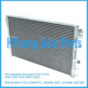 AC Condenser For Caterpillar Excavator 312C 312CL 315C 318C 319C 320C 320CL 841859117514 22064PFC 1640588 6401 2414689 3501406