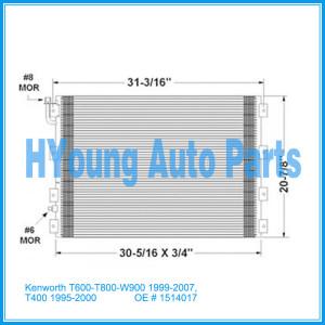 Auto air ac Condenser For Kenworth T600/T800/W900 1999-2007; T400 1995-2000 Condenser OE 1514017