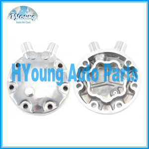 Back piece SD 7H15 (FZ) 8th 10th up with safety valve auto a/c compressor rear head