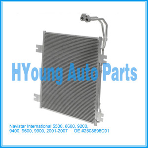 Auto air ac Condenser For Navistar/International 5500, 8600, 9200, 9400, 9600, 9900, 2001-2007 OE #2508698C91 CN 40563PFC
