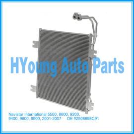 Auto air ac Condenser For Navistar/International 5500, 8600, 9200, 9400, 9600, 9900, 2001-2007 OE #2508698C91 CN 40563PFC