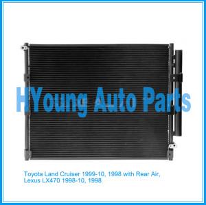 Auto air ac Condenser For Toyota Land Cruiser 1999-10, 1998 with Rear Air, Lexus LX470 1998-10, 1998 UPC 841859111642