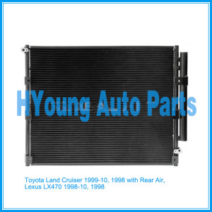 Auto air ac Condenser For Toyota Land Cruiser 1999-10, 1998 with Rear Air, Lexus LX470 1998-10, 1998 UPC 841859111642