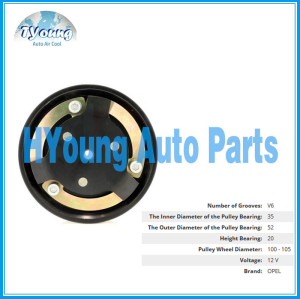 Delphi 6PK 100/105mm 12v fit for Opel Automotive air con a/c Compressor clutch bearing size 35x52x20mm