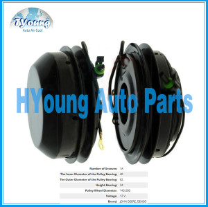 146mm 1PK 12v Denso fit for John Deere Auto air conditioning Compressor clutch, Bearing size 40x62x24mm