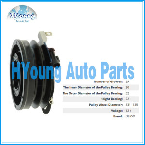 131/135 mm 12V 4PK Auto air conditioning compressor clutch for denso vehicle, bearing size 30x52x22mm