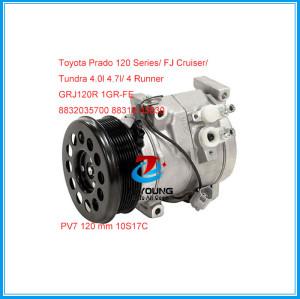 Four Seasons 97306 10S17C PV7 120 mm ac compressor for Toyota Prado 120 Series 4runner FJ Tundra GRJ120R 8831035830 8832035700 8851535020 4472205132