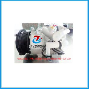 6SEU16C 7PK car air compressor Toyota Hiace 2004- oem 883102F030 China supply