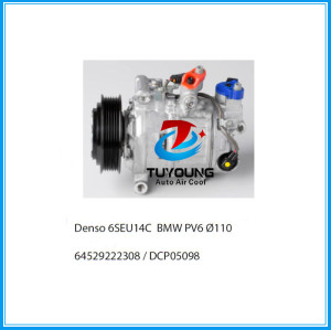 brand new Denso 6SEU14C auto ac compressor for BMW 6PK 110MM 64529222308 DCP05098