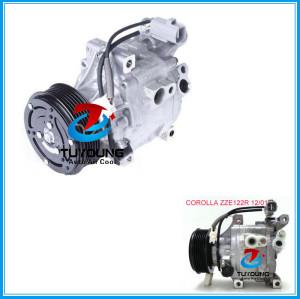 Auto ac compressor Toyota Corolla ZZE122R 12/01 denso SCSA06C 447220-6380 447180-9090 247300-0090 air pump
