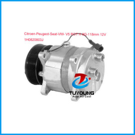Delphi-Harrison V5 car air conditioning compressor Citroen Peugeot Seat VW 1H0820803J 6553634 015121 15124 015124