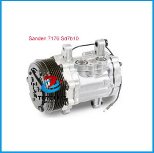 Automotive air conditioning compressor Sanden 7176 Sd7b10 6G 122mm 12V