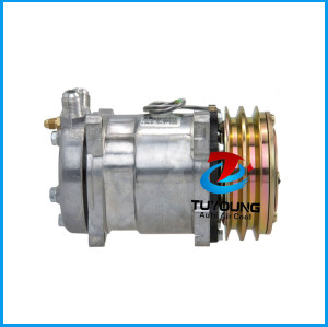 Universal Car air conditioning compressor Sanden 6642 SD5H14 ROT Vertical 2G-132mm 12V