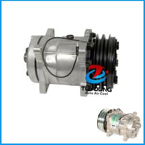 ROT Hor Auto air a/c compressor Sanden SD5H14 6631 4513 4471 4646 4735 HTO 132mm 2A 12V