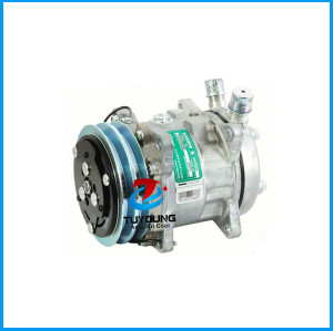 auto air conditioning compressor Sanden 5072 SD5H09 O-Ring Vertical 2G 125mm 12V