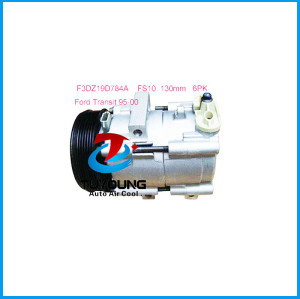 FS10 Auto A/C air conditioning compressor for Ford Transit 95-2000 6PK 130mm F3DZ19D784A