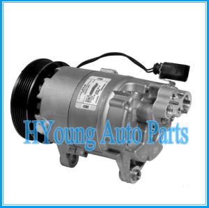 High quality auto parts air conditioner compressor 7v16 for Volkswagen bora/golf 1JE820803A