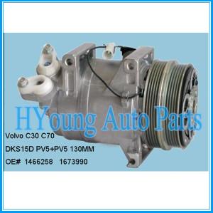 High quality DKS15D auto parts a/c compressor for Volvo C30 C70 8603656 1466258 1476678