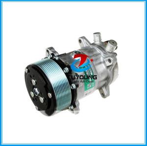 AC Compressor Sanden 5H14 SD508 10PK 12V/24V o-ring fitting vertical big and small hole