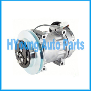 SD7H15 Sanden 4602 N83304464 Auto a/c Air Compressor fit Ford Sterling B Series Truck 169MM 1-A PULLEY 12V, O-ring Pad ,WH HEAD F3HZ-19703D