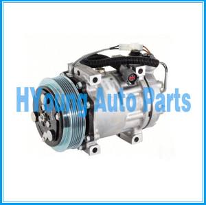SD7H15 Sanden Auto a/c Air Compressor fit Ford Sterling Truck SK14810 125MM 6PK 12V WJ HEAD