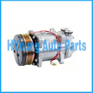 SD7H15 Sanden Auto a/c Air Compressor fit FORD NEW HOLLAND 12V 125mm 6PK UK HEAD VOR DUST COVER