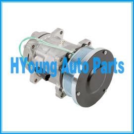 Caterpillar Auto AC Compressor SD7H15 Sanden 4487 4726 EAR MNT 24V 8PV 133MM HORIZ. PAD