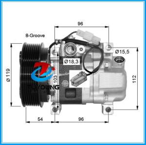 Car air pump fit Mazda 3 6 2.2L 08- 2015 ac compressor GAM661K00 GDB161450 H12A0CA4JE H12A1AQ4HE
