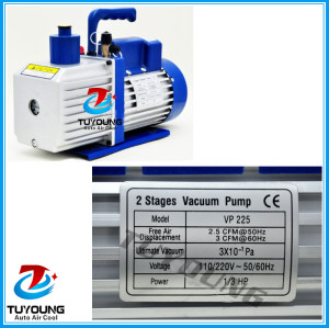 Auto air conditioning vacuum pump, vacuum pump for air conditioning, 220V,340x130x260 mm,2 CFM pump capacity,10.25kg