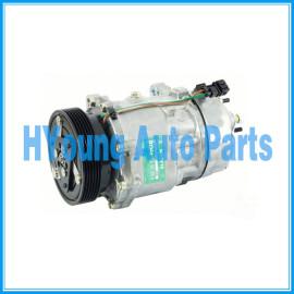Sanden 1221 1206 Compressor air pump SD7V16 fit Volkswagen Polo Golf Bora New Beetle Seat Audi TT A3 1997 - 2001 Ear Mount 6pk 120 mm 12V 1J0820805 1J0820803A H/PAD