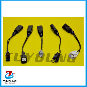 Auto ac connection terminals for control valves, set of connectors for solenoid valves CALSONIC, DENSO, DELPHI, SANDEN, ZEXEL