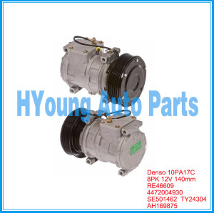PN#AN221429 AH169875 Air Conditioning Compressor for New John Deere Tractor RE46609 SE501459 TY24304