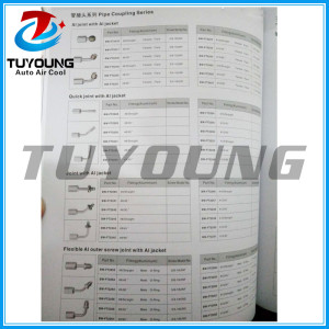Automotive air conditioning pipe fittings series
