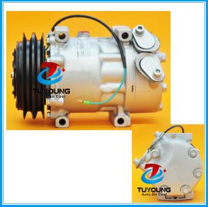 SANDEN SD7H15 Car Air conditioning compressor fit SCANIA trucks 24V 4 seasons 67185 68185 1376999 1412264 SD7981 SD7848 SD8068