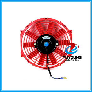 automotive electric fan motor 10 Inch 12v 80w red color fit universal vehicle