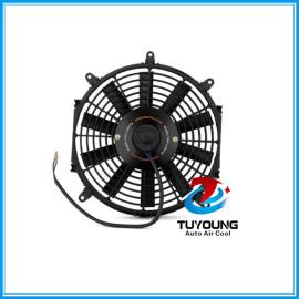 automotive electric fan motor fit universal vehicle ,Universal Electric Slim Fan, Black, 12 Radiator