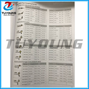 Auto ac system of pipe coupling series Al joint with iron cap & Flexible iron outer screw with Al jacket