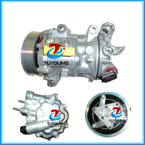 6V12 7V16 7C16 car ac compressor for CITROEN C5 C6 PEUGEOT 407 508 607 1807 1803F 1849 1333F 6453TA 6453XE 9800840380 9655229080